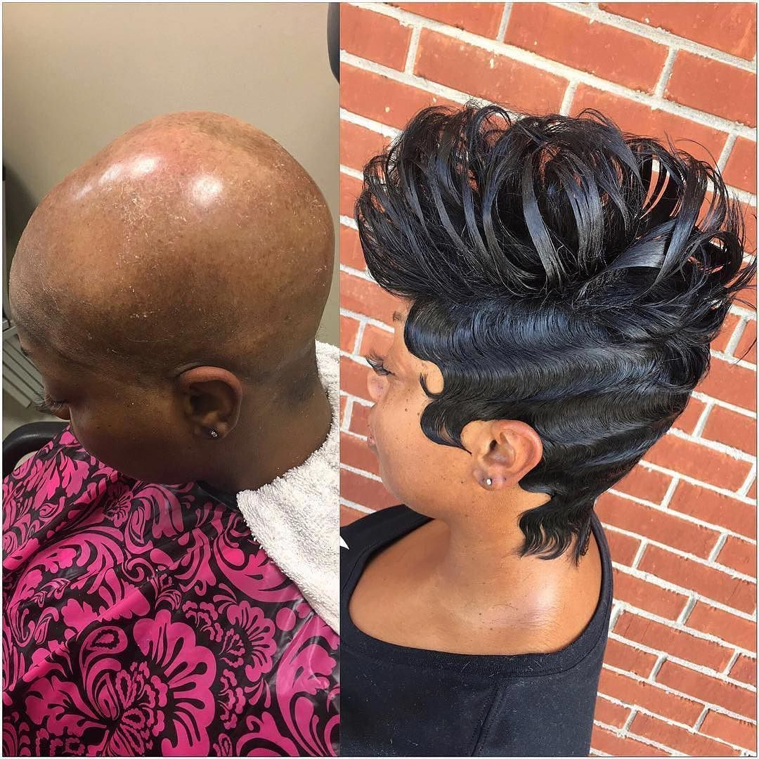 @hairbydonetta Serving Real Slayage #voiceofhair . . #Shorthair #Transformation #Bald2Beautiful #AmazingAfter #AlopeciaSlay #Shorthair #Transformation #CutCurlCrown #SetForMothersDay #AtlHair #HairbyDonetta #SlayingOnARegular #TheCutlife #Mobhair #ModernSalon #BehindtheChair #HashTagPixieCuts #27piecehairstyles