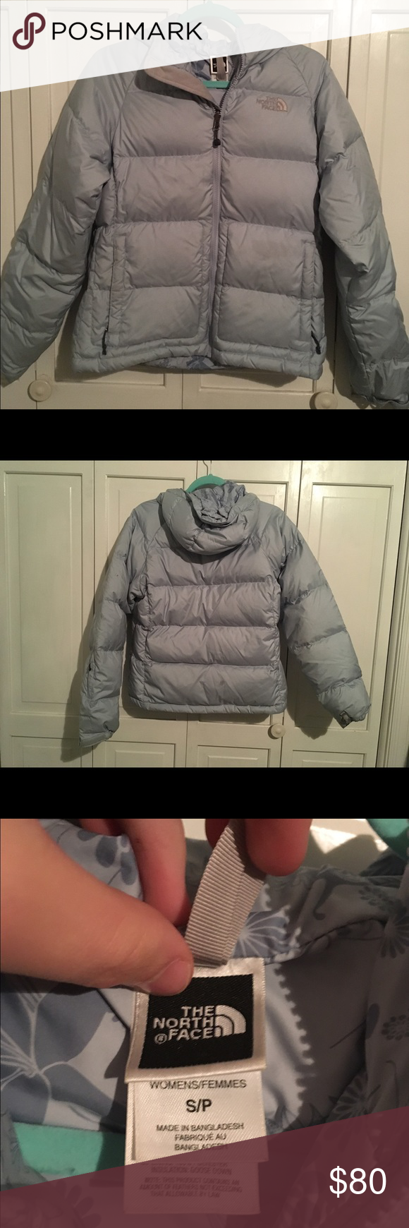 d430103ad6 ... wholesale north face down jacket this size small sky blue down jacket  by north face is