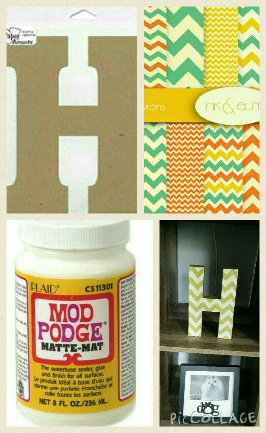 Diy Letter Decor Chipboard Letters From Hobby Lobby Scrapbook