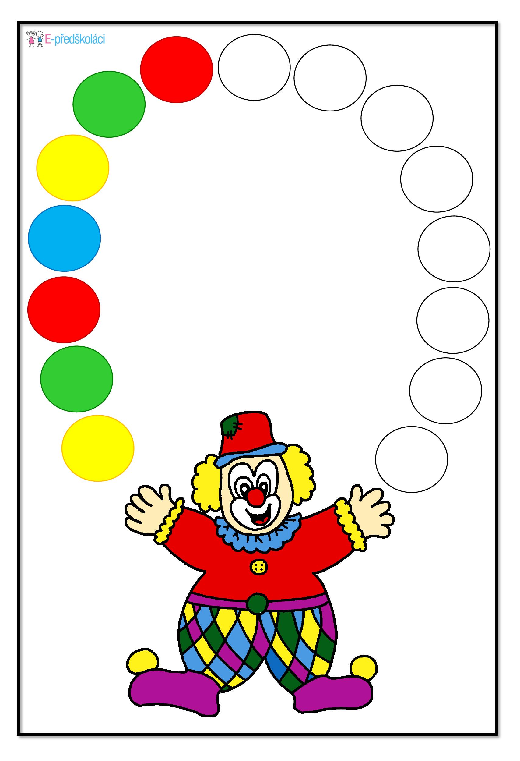 Karnevalove Veseli Color Activities Preschool Activities Pattern Activities