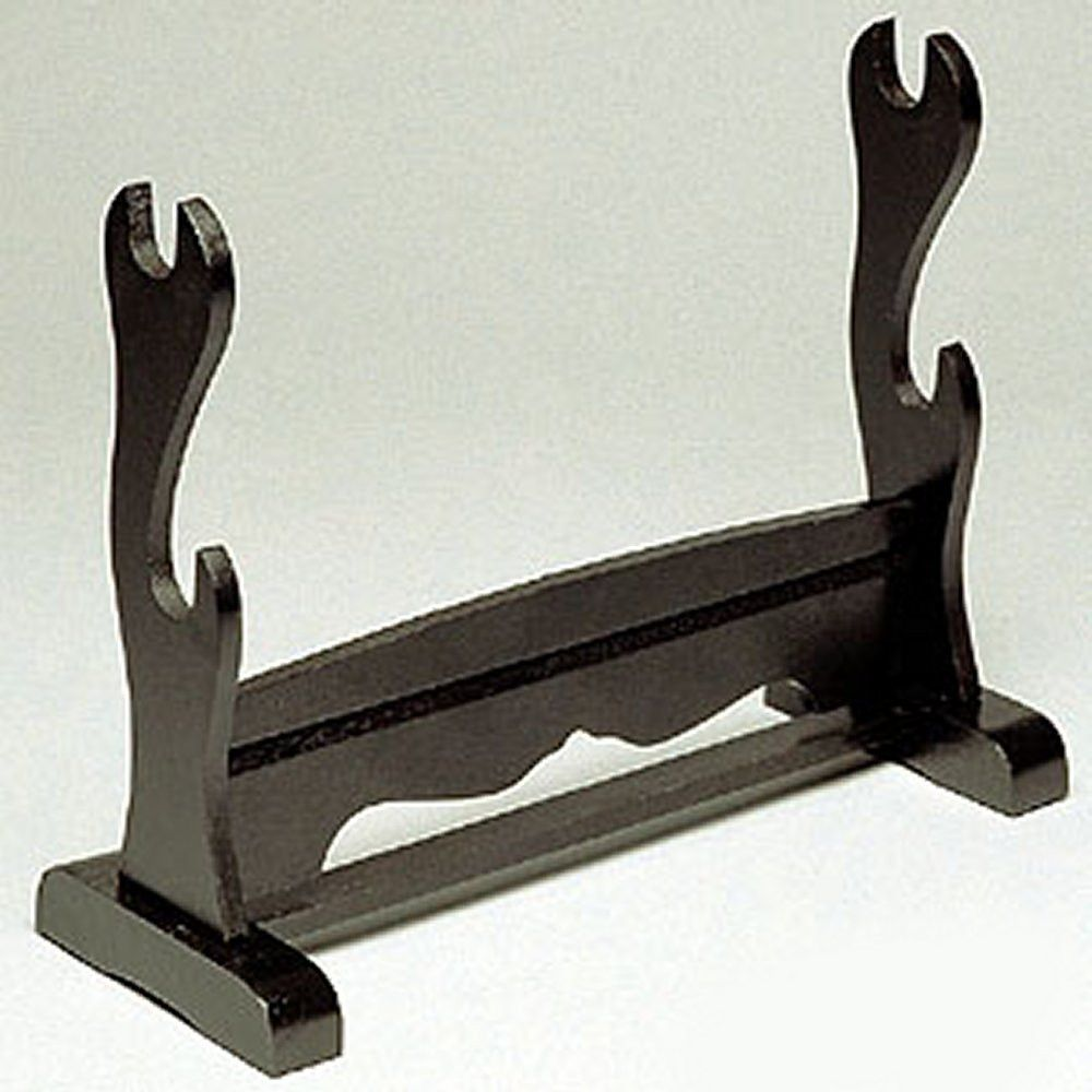 Black Double Sword Display Stand