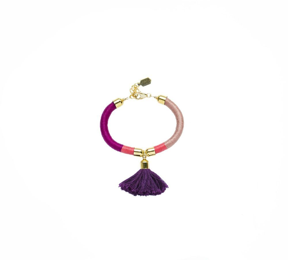 Tassel Bracelet in Red & Marsala - Coralie Reiter Jewelry - $64.99 - domino.com