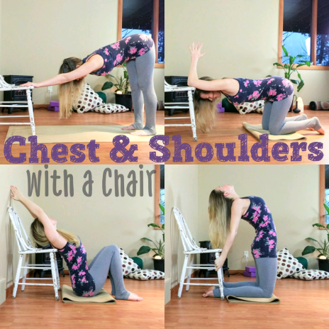 chair yoga to open your chest and shoulders with images