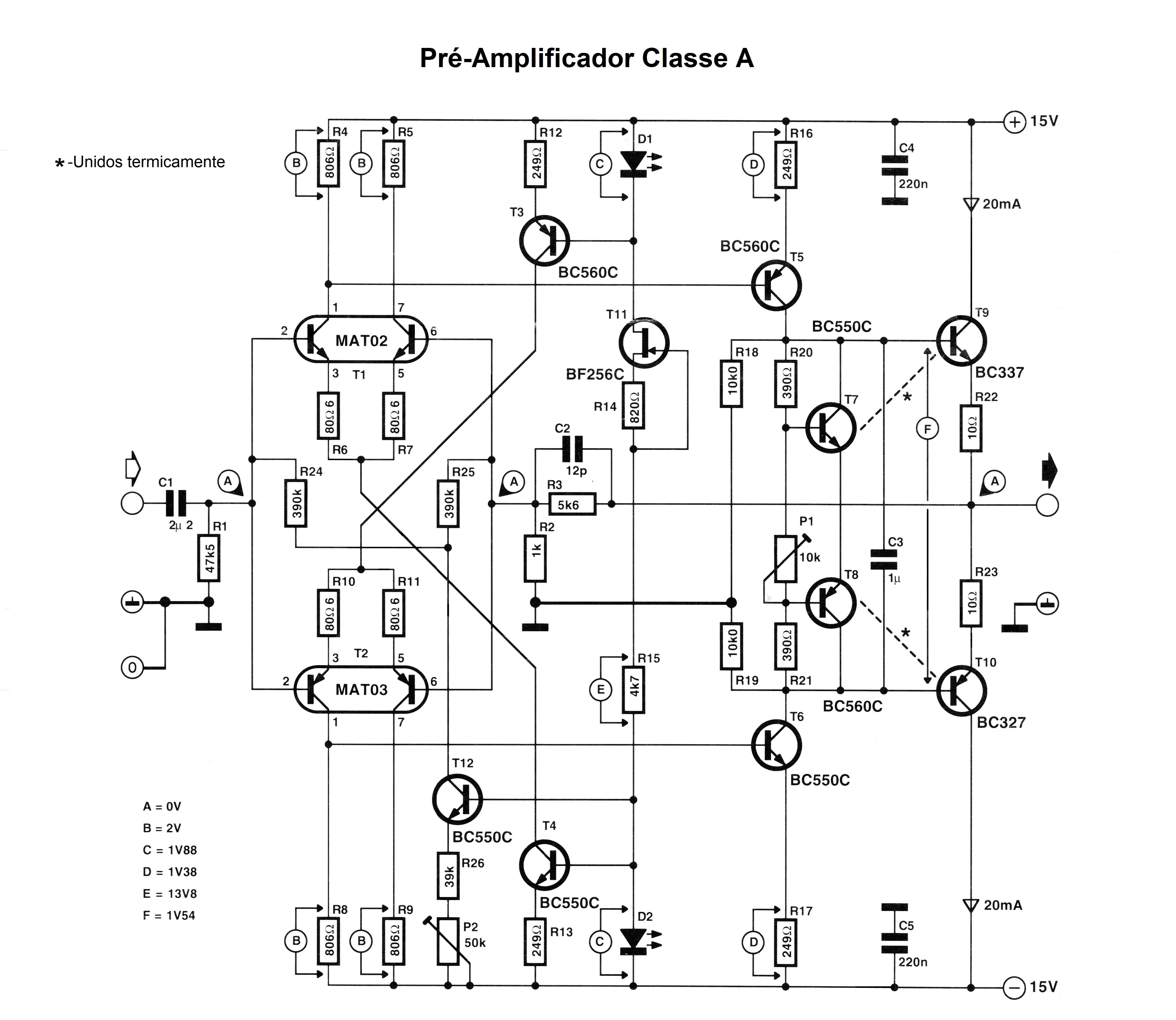 Classe A Pre Amplifier