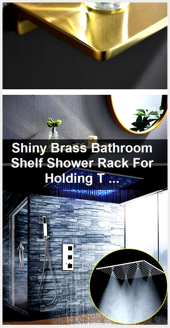 Photo of Shiny Brass Bathroom Shelf Shower Rack For Holding Towel And Accessories Polished Brass Bathr…