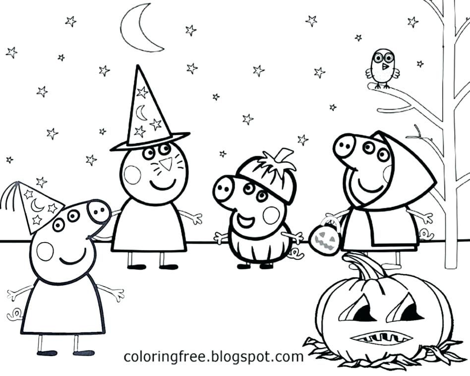Peppa Pig Coloring Pages Pig Coloring Page With Wallpapers High