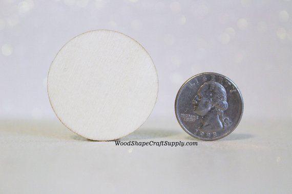 50 1 12 Inch Wood Circle Coin Blank Small Wooden Craft Circles
