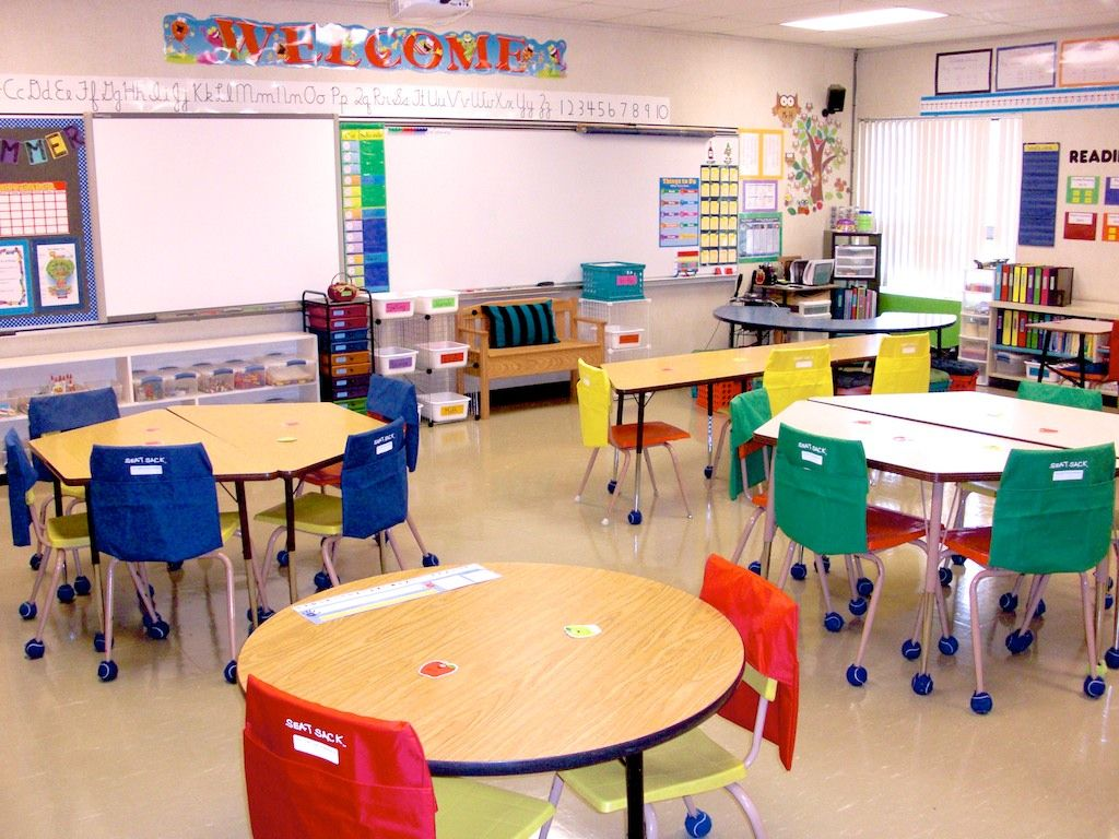 Kindergarten classroom table - Classroom Set Up Maybe Reconsider Trapezoid And Round Tables With Rectangles