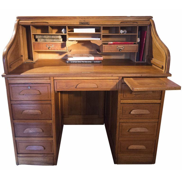 1930 S French Roll Top Desk 1stdibs Com Roll Top Desk Desk Desk Tv Stand