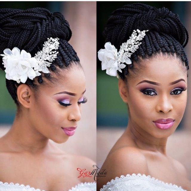Jolie Mise En Beaute Idee Coiffure Mariage Coiffure Mariee Tresses Africaines Mariage