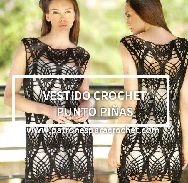 Vestido crochet punto piñas / patrones ~ Patrones para Crochet ...