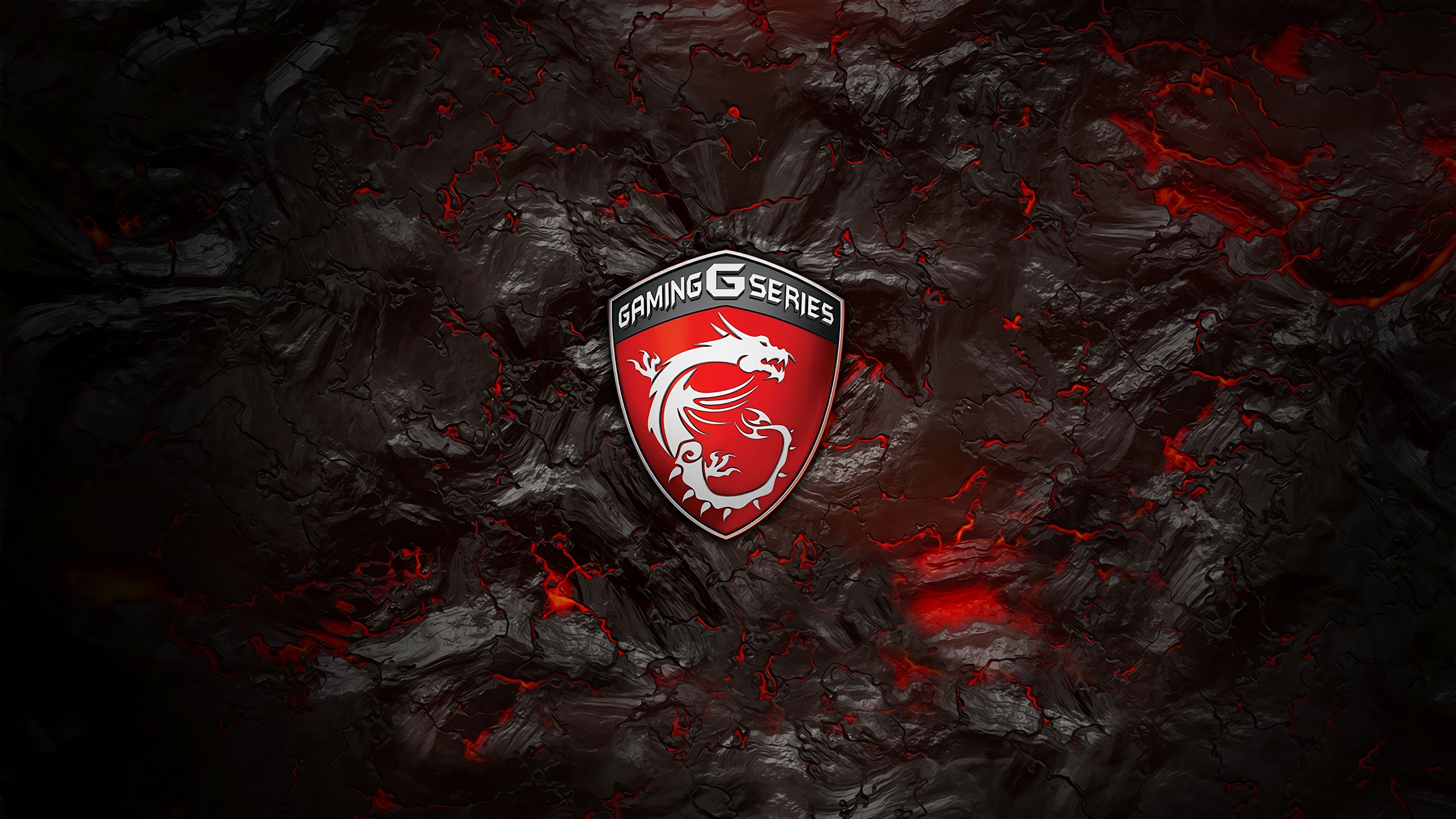 Msi Gaming G Series Logo Lava Background 4k Wallpaper Msi In 2019