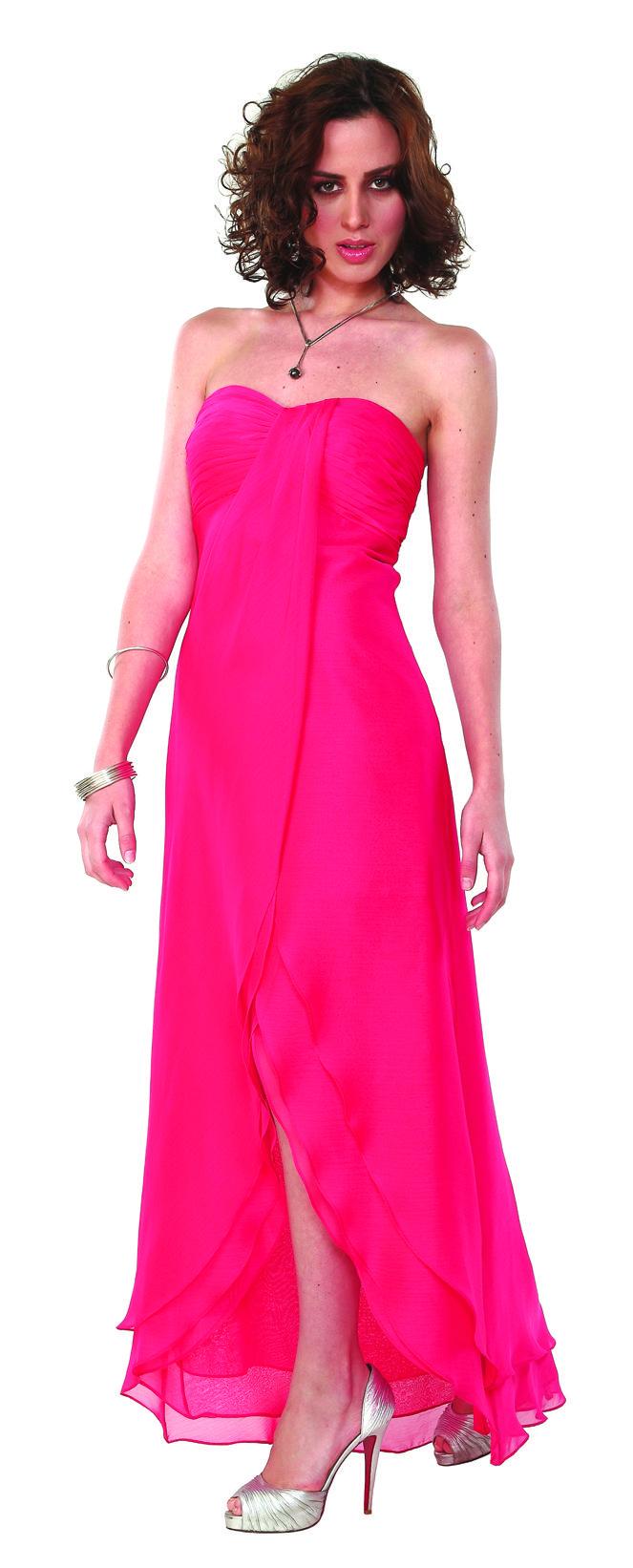 Vestido de noche color fucsia muy fresco ideal para fiestas en ...