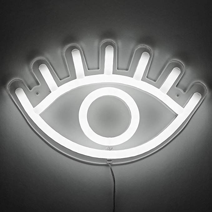 Amped & Co, Eye LED Neon Wall Light, Cool White, 13x8 ...