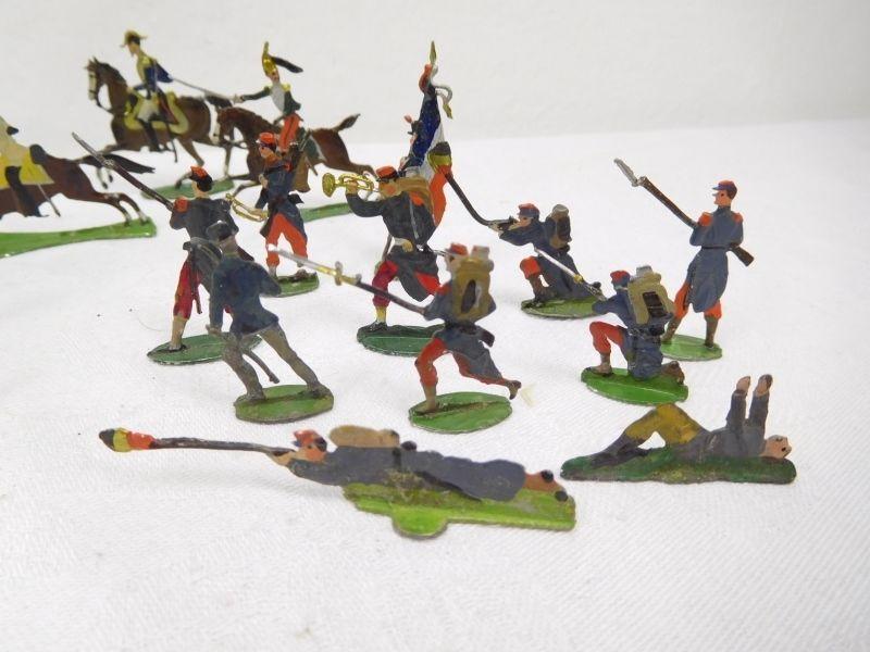 Historische Zinnfiguren 41 verschiedene Flachfiguren Höhe ca. 3cm-4cm /300 | eBay