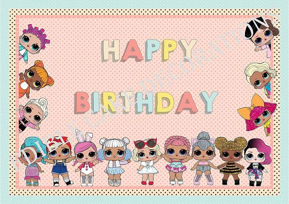 Letrero De Happy Birthday Para Imprimir ~ Topper imprimible gratis para cumpleaños del