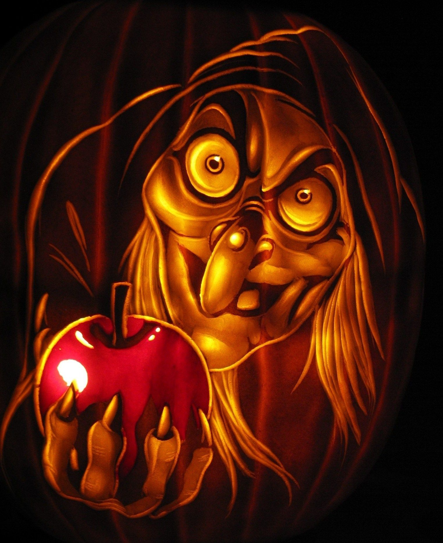 Stunning disney villains pumpkin carvings snow white