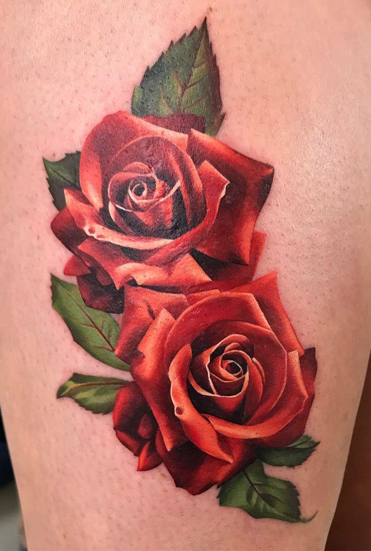 Red Roses Tattoo C Tattoo Artist Michelle Maddison Rose Tattoo Forearm Red Rose Tattoo Rose Tattoo Design