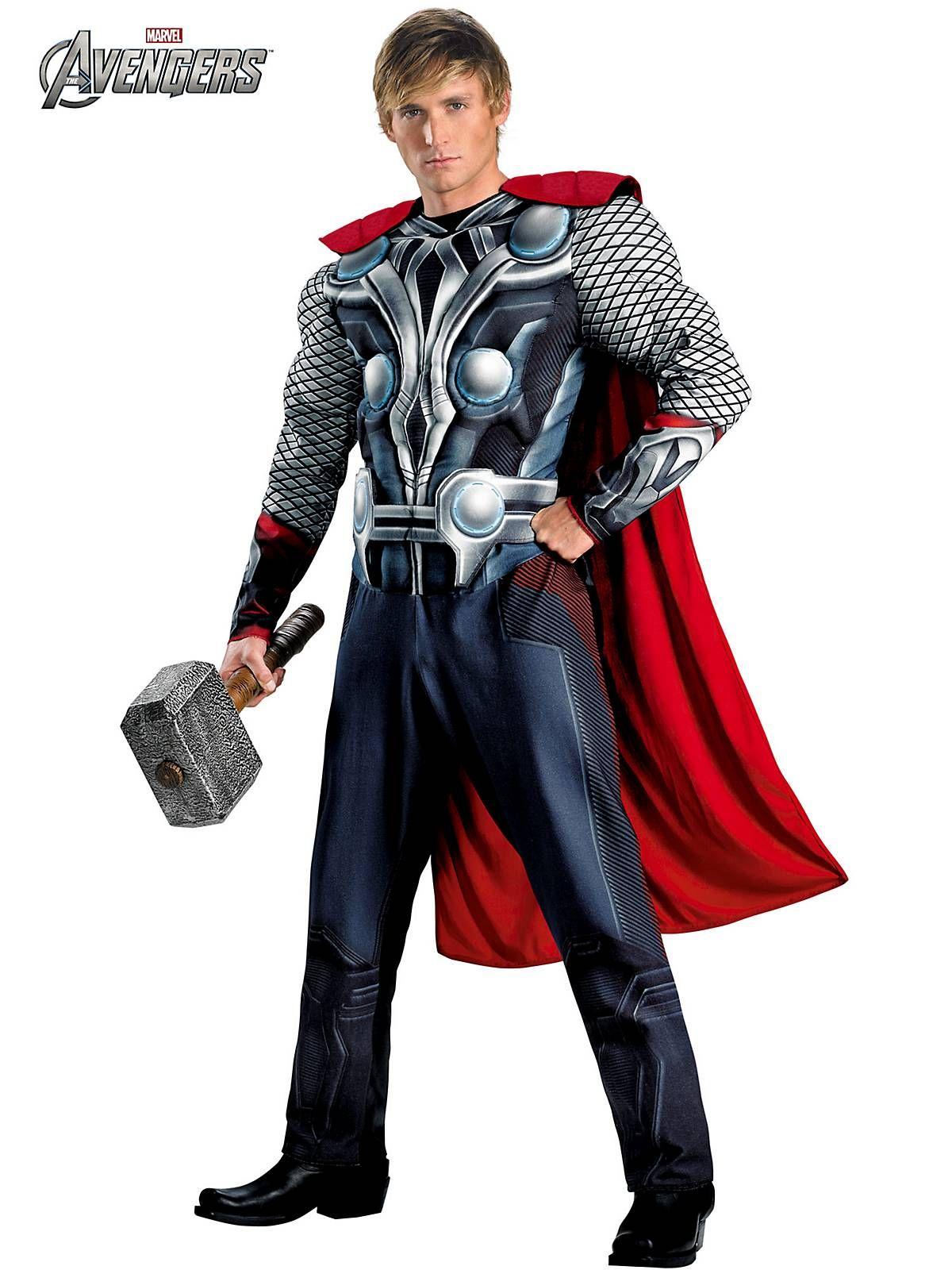 Thor Men/'s Avengers Superhero Fancy Dress Mens Marvel Costume Adults Outfit
