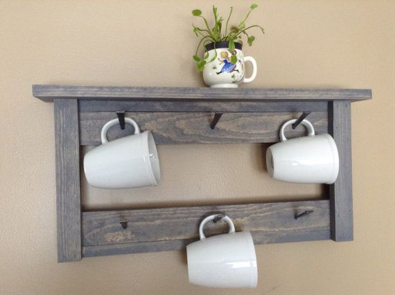 20 Diy Cup Holder Ideas Enhances The Feel And Look Of Your Kitchen Area Coffee Cups Diy Wall Storage Diy Coffee Mug Holder