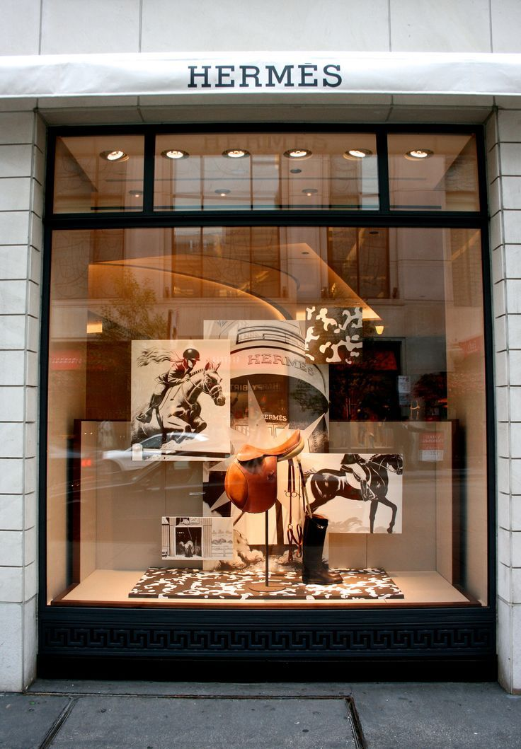 Image result for open window display for horse stores hermes