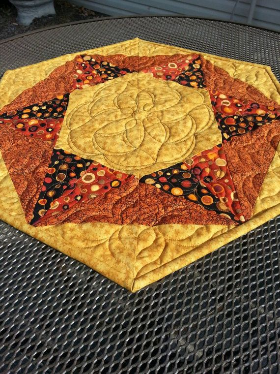 Fall Quilted Table Runner Halloween Quilted by gallagherquilting