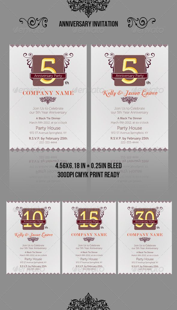 Anniversary Invitation Template_vol02 Anniversary invitations - anniversary invitation template