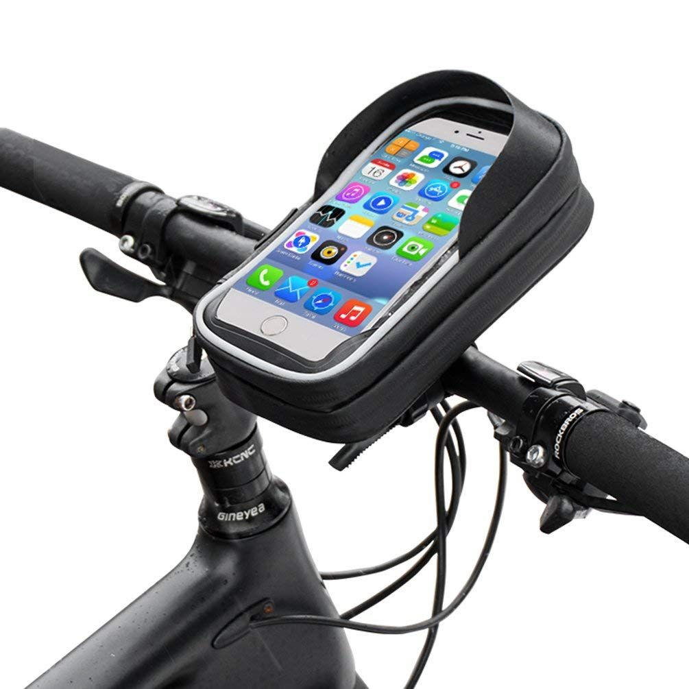 Rockbros Bike Phone Case Waterproof Bicycle Phone Mount Bag Touch