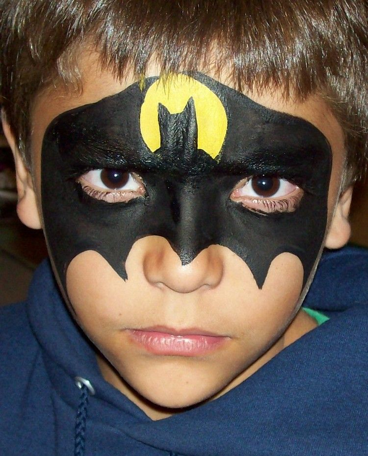 batman schminken karneval ideen jungs superhelden fasching party makeup fasching und party