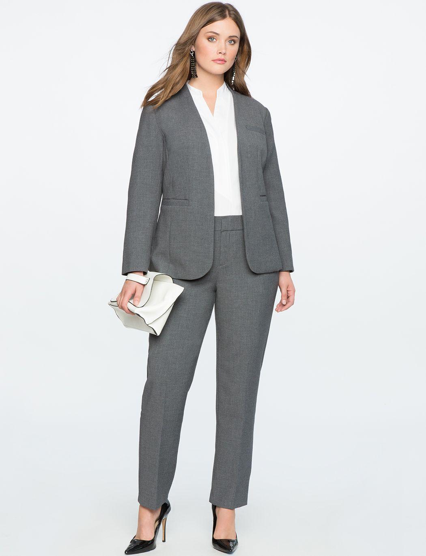 Business Plus Size Pant Suits