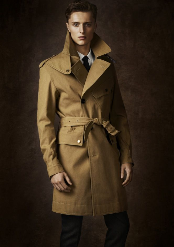 The aviator trench coat references a rich history of