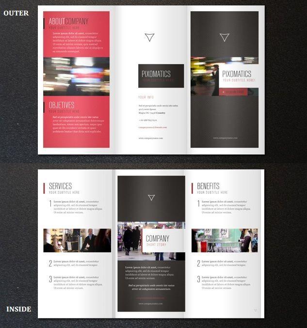 Corporate Tri Fold Brochure Template Graphic Design - Folded brochure template