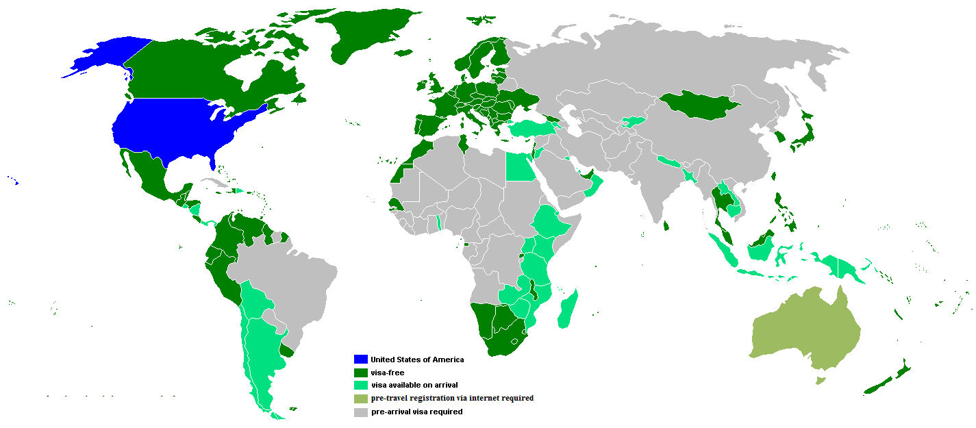 visa requirements by country