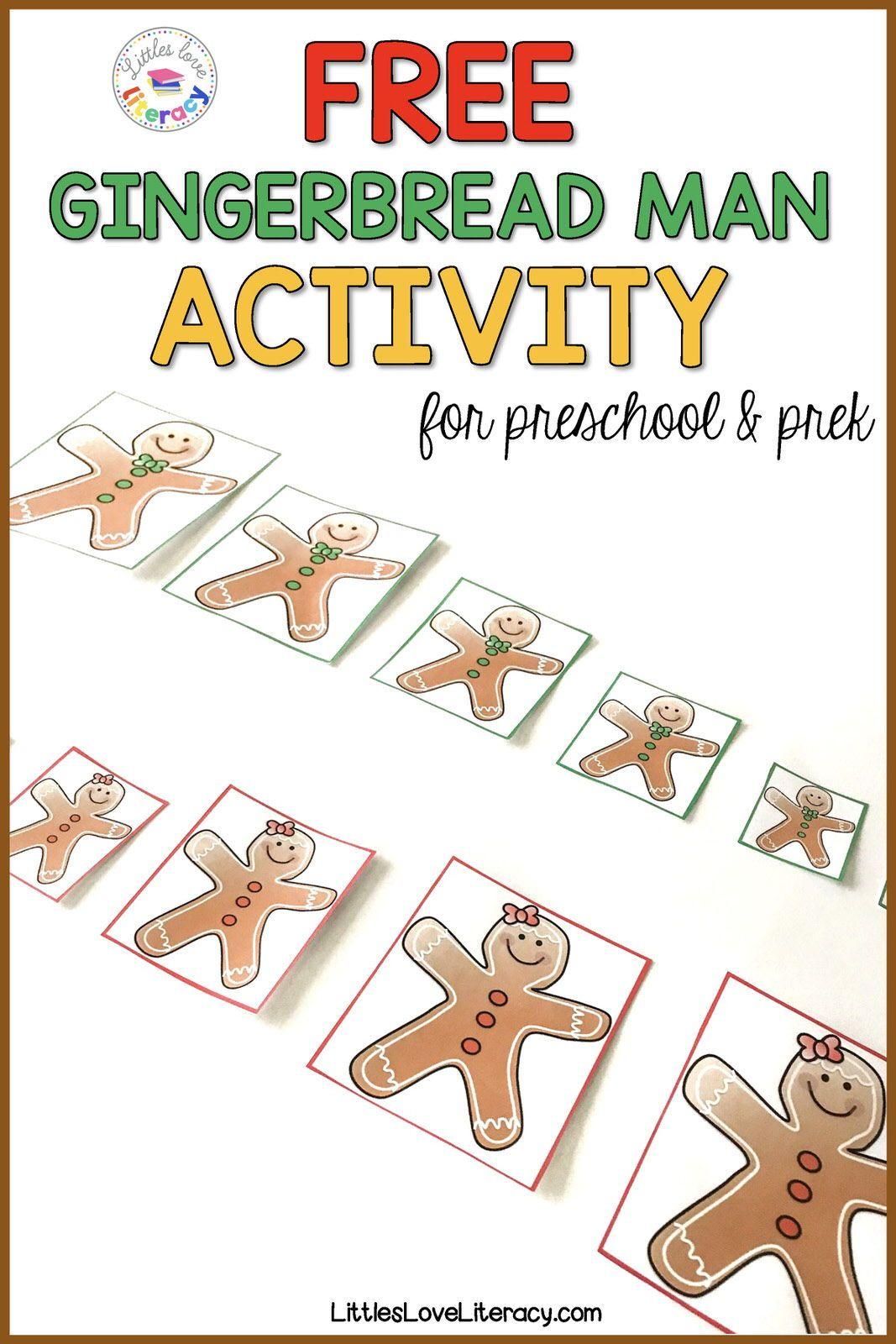 Fun And Free Ninjabread Man Activities For Preschool Pre K Free Preschool Printables Gingerbread Man Activities December Lesson Plans [ 1600 x 1067 Pixel ]