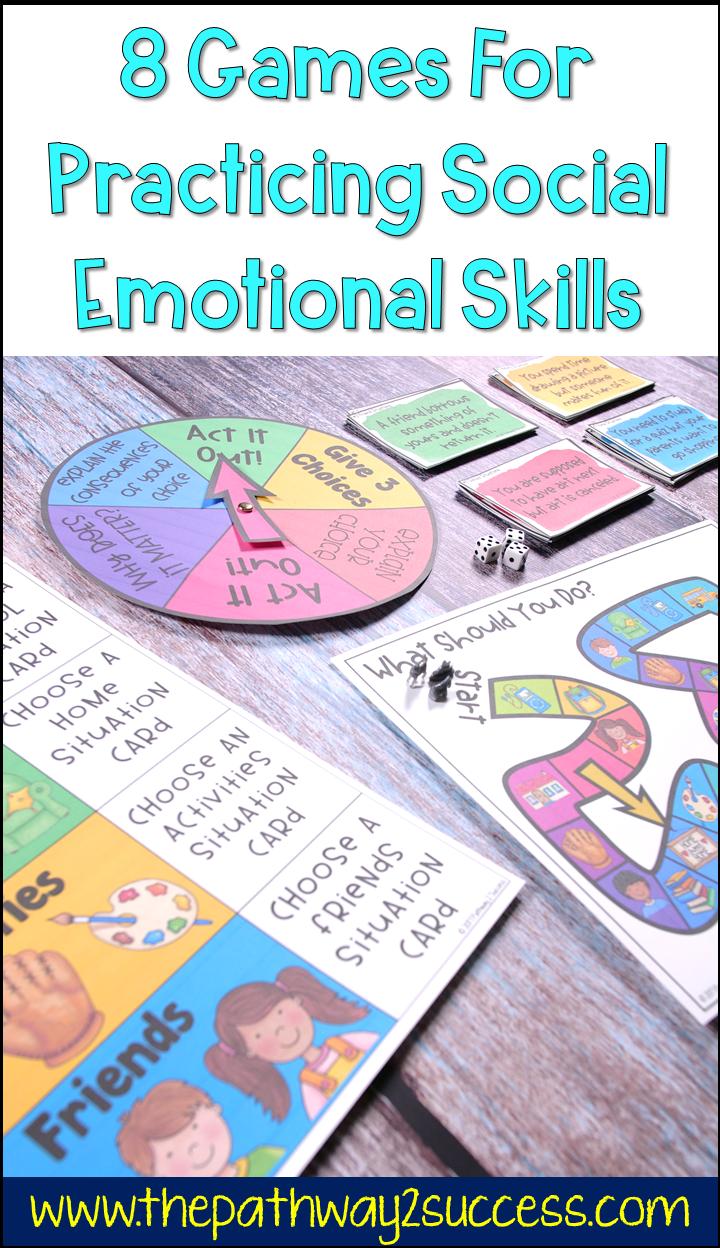 Using Games To Teach Social Emotional Skills Social Skills Games Social Skills Activities Preschool Social Skills