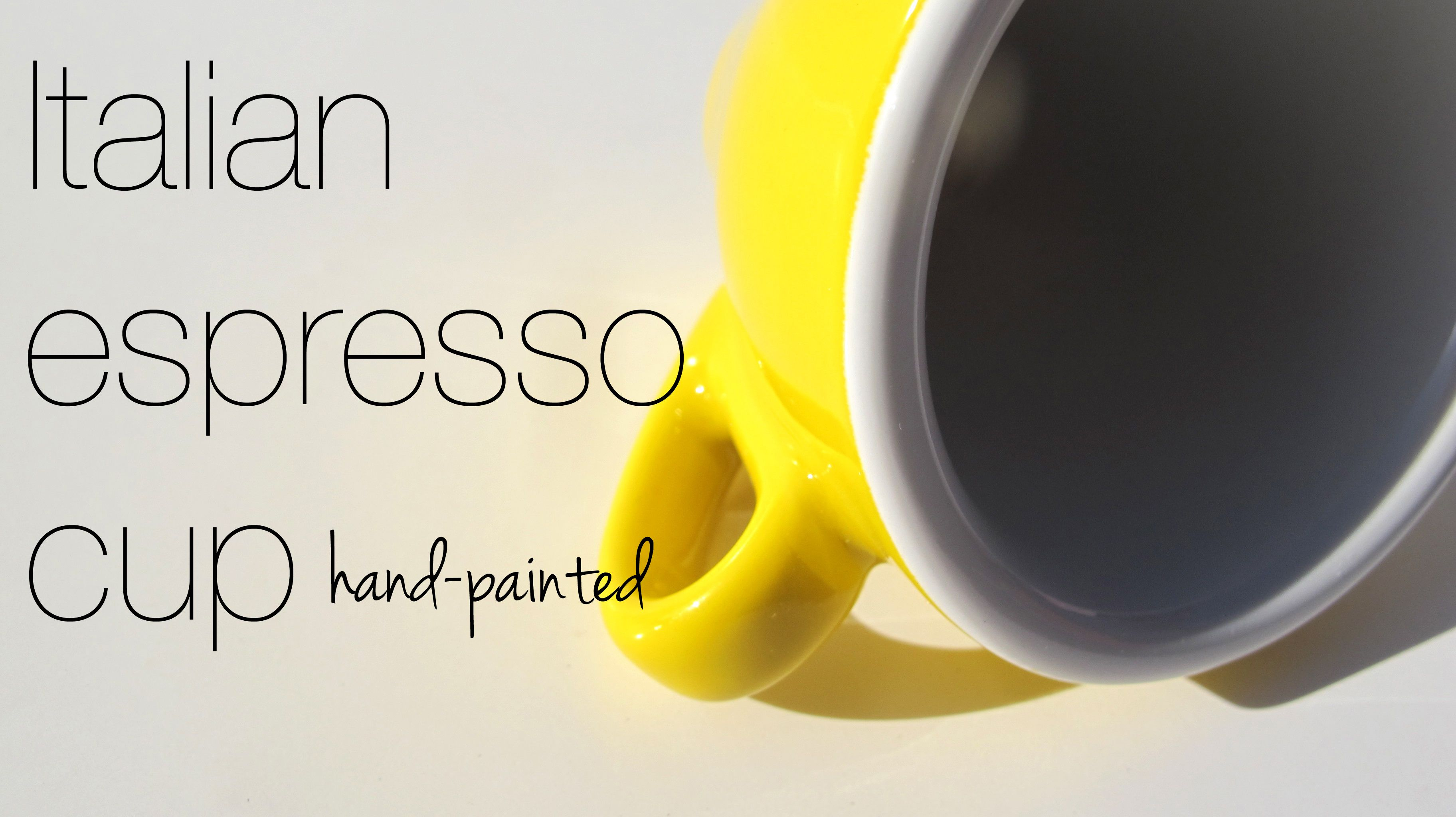 Coffee cup for espresso by Nuova point. Tasse, Jaune