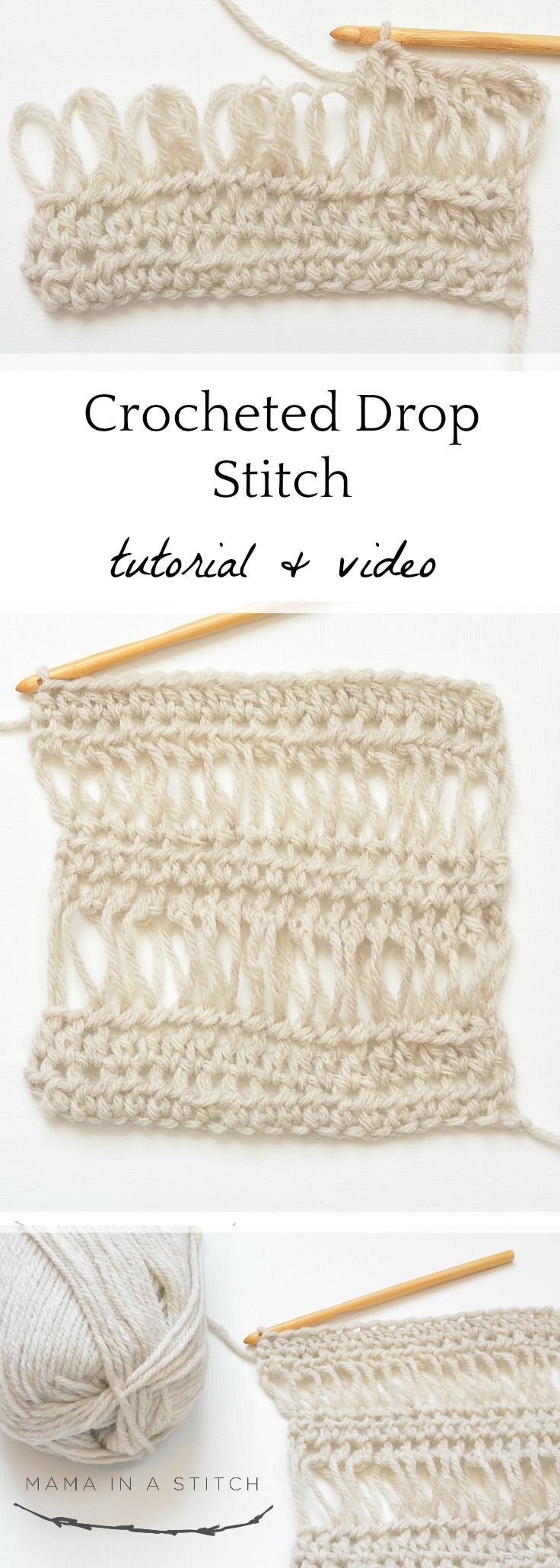 How To Crochet the Drop Stitch | Patrones Hilo y Lana | Pinterest ...