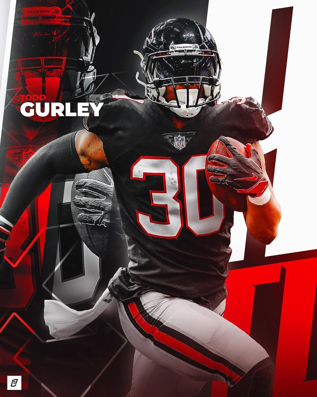 Enrique Castellano On Instagram Todd Gurley X Atlanta Falcons Would This Be Something You Guys Would In 2020 Atlanta Falcons Football Todd Gurley Nfl Football Art