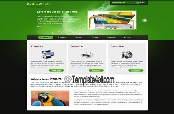 css templates gadgets website template css csstemplates gadgets