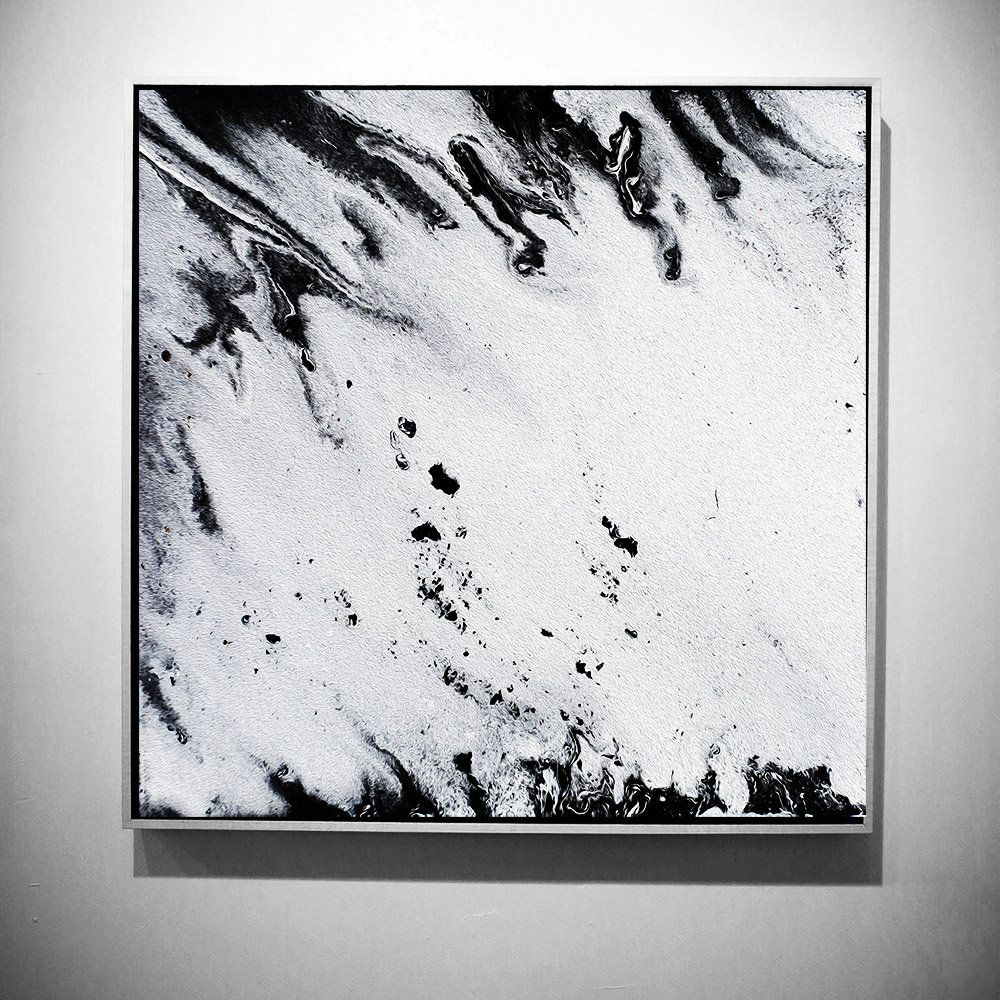 Up to uu extra large wall art black white print fluid painting