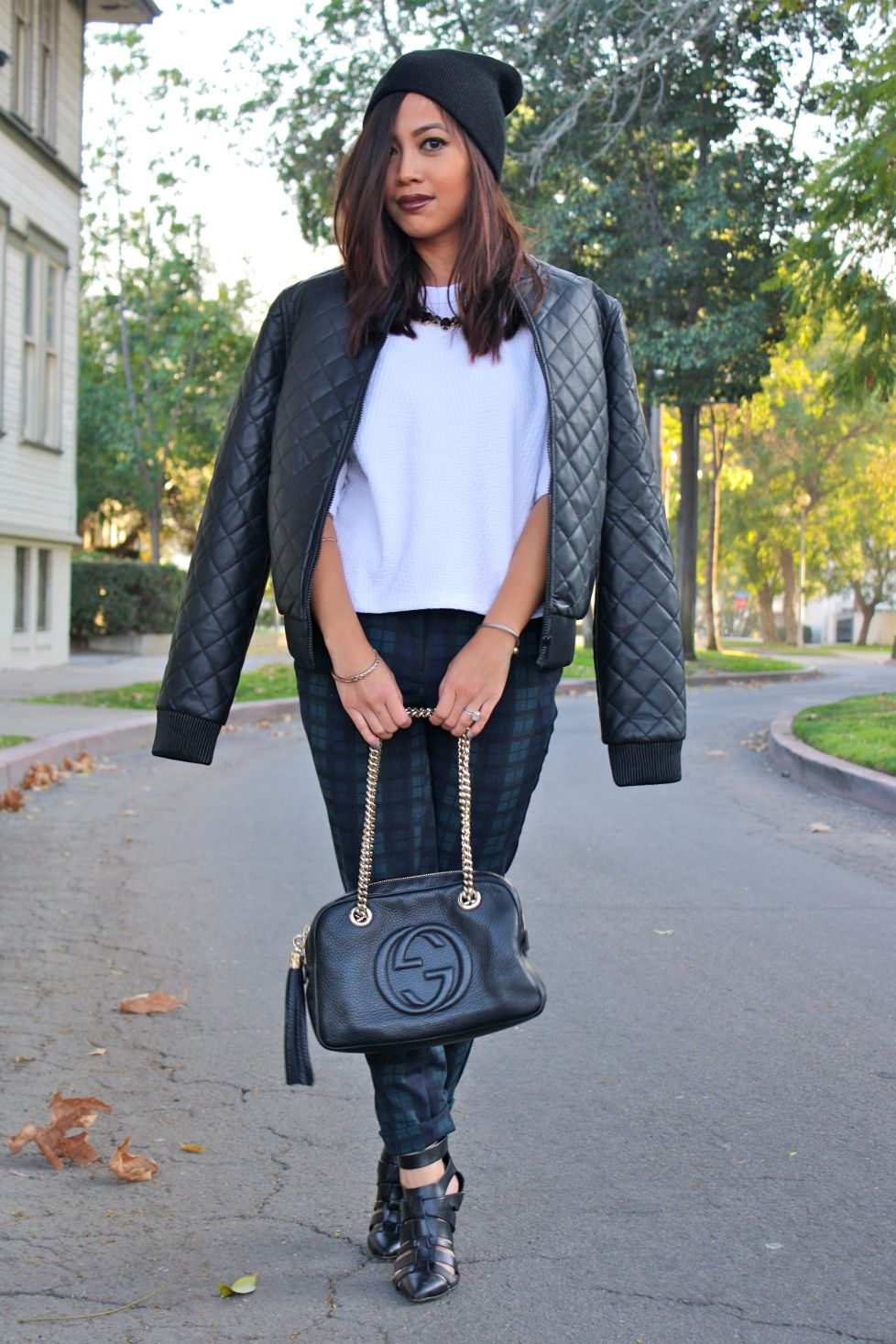 Love the textures in this outfit.