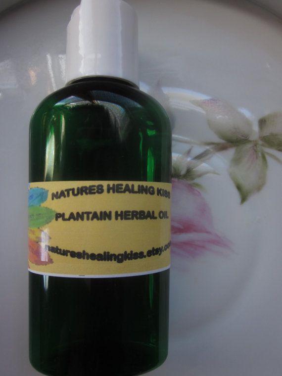 PLANTAIN HERBAL OIL bug bites stings flea by NaturesHealingKiss, $5.95