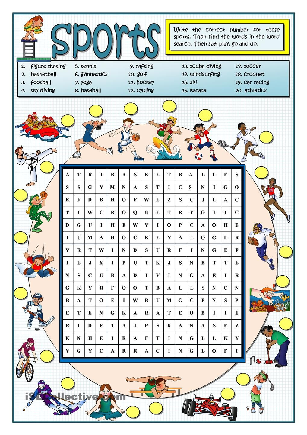 sports wordsearch follow my worksheets on islcollective pinterest english worksheets and. Black Bedroom Furniture Sets. Home Design Ideas