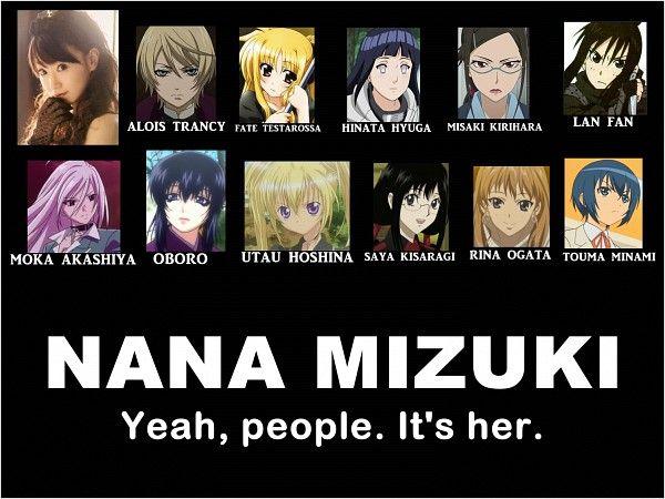 English Anime Voice Actors Voice Actor Nana Mizuki Anime Photo