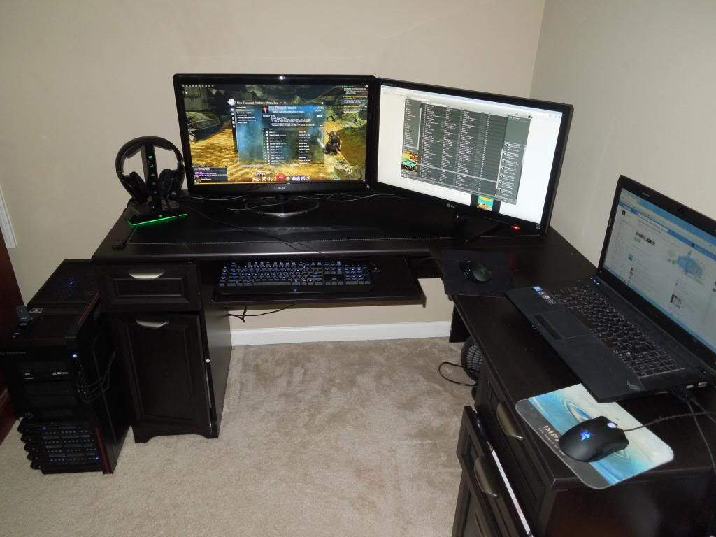 L Shaped Gaming Desk  Gaming Desk in 2019  Gaming