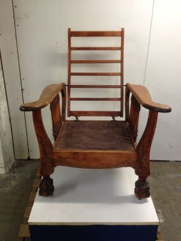 Us 350 00 Vintage Morris Chair In Antiques Furniture Chairs 1900 1950 Ebay Antique
