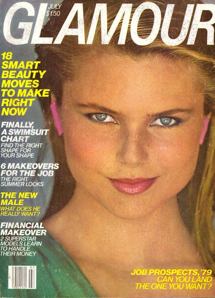 Glamour Magazine July 1979 Christie Brinkley Gia Carangi Patti