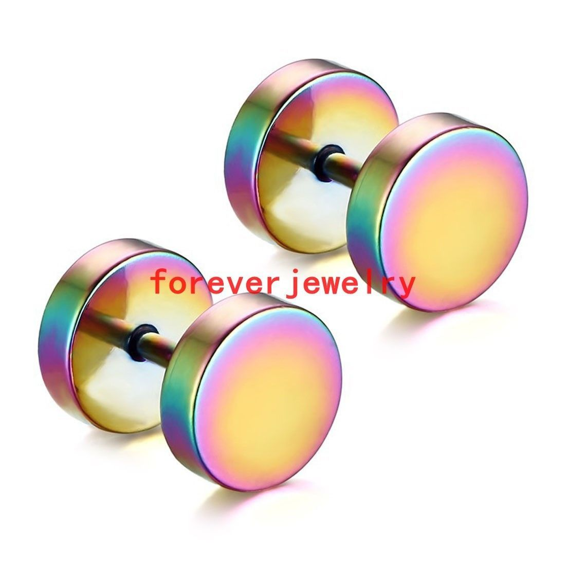 Pro body piercing  Fashion Colorful L Stainless Steel Barbell Design Men Women Stud