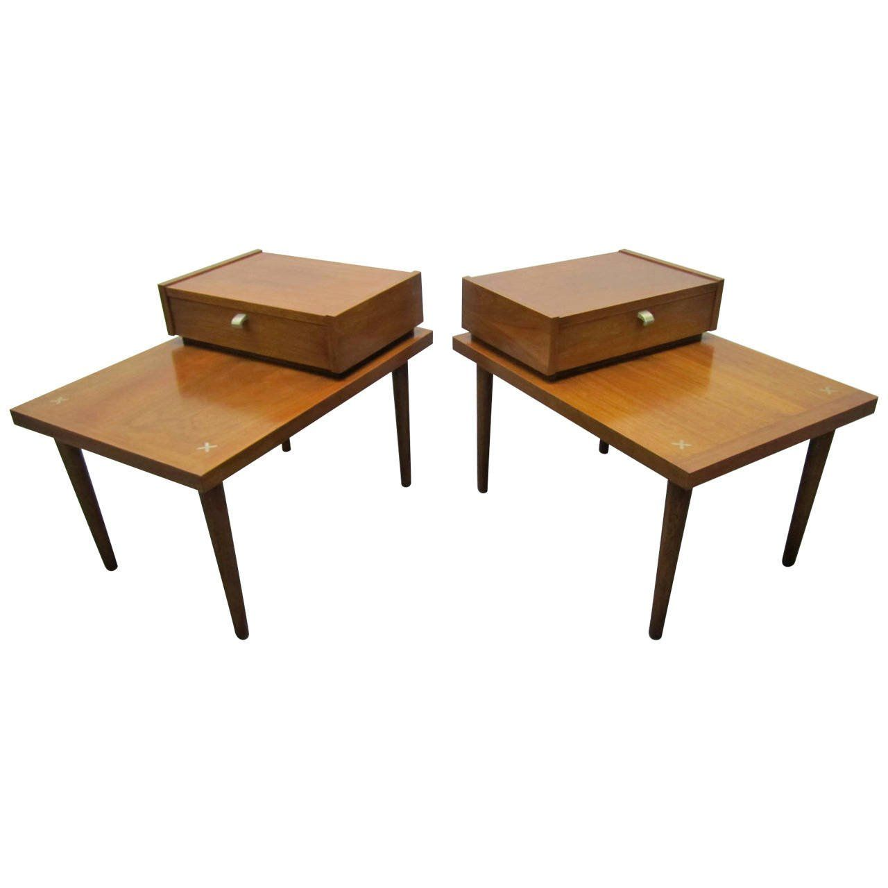 Handsome Pair of American of Martinsville MidCentury Modern End
