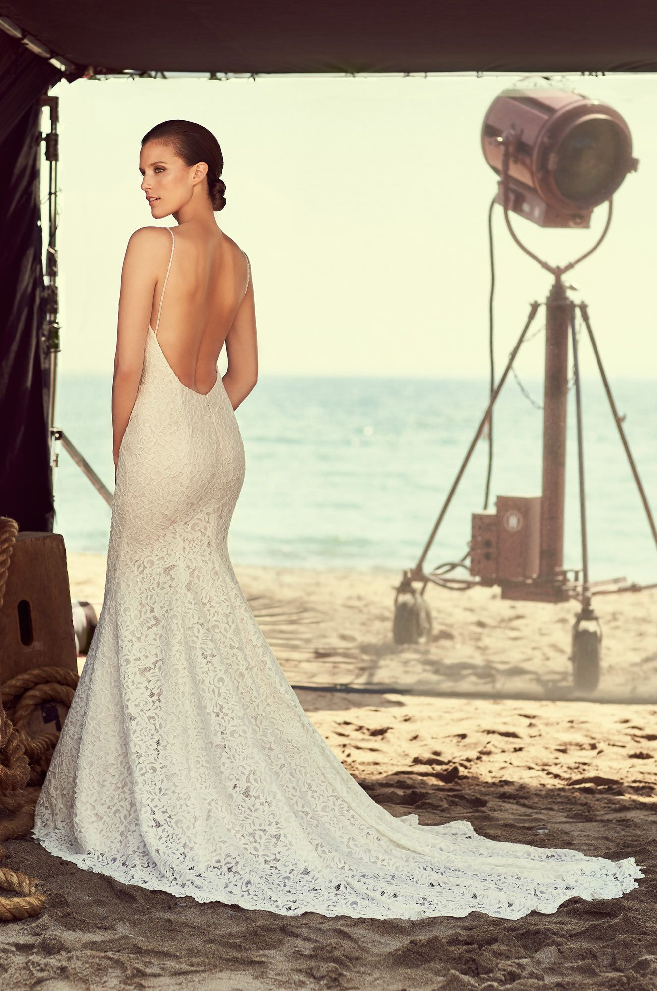 Lace Scoop Neck Wedding Dress Style 2186 In 2018 Mikaella